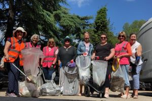 Wombles and Councillors joint litter pick on 12th June