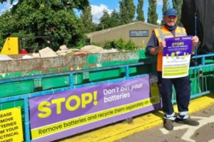 Buckinghamshire recycling centres join the fight against zombie batteries